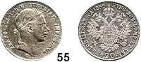 Österreich - Ungarn,Habsburg - Lothringen Franz Josef I. 1848 - 191620 Kreuzer 1854 C, Prag.  Frühwald 1569.