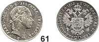 Österreich - Ungarn,Habsburg - Lothringen Franz Josef I. 1848 - 191620 Kreuzer 1855 C, Prag.  Frühwald 1573.