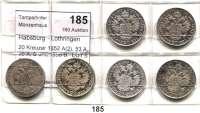 Österreich - Ungarn,Habsburg - Lothringen Franz Josef I. 1848 - 191620 Kreuzer 1852 A(2), 53 A, 55 A, B und 1856 B.  LOT 6 Stück.