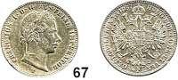 Österreich - Ungarn,Habsburg - Lothringen Franz Josef I. 1848 - 19161/4 Gulden 1857 V, Venedig.  Frühwald 1517.