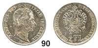 Österreich - Ungarn,Habsburg - Lothringen Franz Josef I. 1848 - 19161/4 Gulden 1861 V, Venedig.  Frühwald 1536.