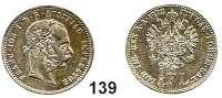 Österreich - Ungarn,Habsburg - Lothringen Franz Josef I. 1848 - 19161/4 Gulden 1872.  Frühwald 1553.