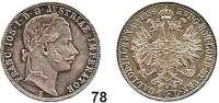 Österreich - Ungarn,Habsburg - Lothringen Franz Josef I. 1848 - 1916Gulden 1859 E, Karlsburg.  Frühwald 1453.