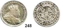 Deutsche Münzen und Medaillen,Preußen, Königreich Friedrich II. der Große 1740 - 1786 Preußische Münzen im Namen Friedrich August II. von Sachsen.  18 Gröscher  1756 EC, Leipzig o. a..  5,53 g.  Kluge K 19.4.  Olding 479.  Kahnt 689.