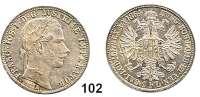 Österreich - Ungarn,Habsburg - Lothringen Franz Josef I. 1848 - 1916Gulden 1864 A, Wien  Frühwald 1472.