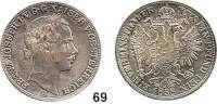 Österreich - Ungarn,Habsburg - Lothringen Franz Josef I. 1848 - 1916Vereinstaler 1858 B, Kremnitz.  Frühwald 1397.  Kahnt 352.  Jl. 312.  Dav. 21.