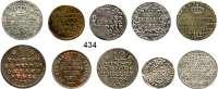 Deutsche Münzen und Medaillen,L O T S     L O T S     L O T S  LOT von 10 altdeutschen Kleinmünzen.  18./19. Jahrhundert.  Kupfer/Silber.