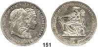 Österreich - Ungarn,Habsburg - Lothringen Franz Josef I. 1848 - 1916Doppelgulden 1879, Wien.  Zur silbernen Hochzeit.  Frühwald 1903.  Jl. 369.  Dav. 31.