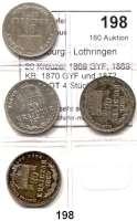 Österreich - Ungarn,Habsburg - Lothringen Franz Josef I. 1848 - 191620 Kreuzer 1869 GYF; 1869 KB; 1870 GYF und 1872 KB.  LOT 4 Stück.