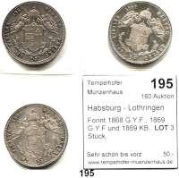 Österreich - Ungarn,Habsburg - Lothringen Franz Josef I. 1848 - 1916Forint 1868 G.Y.F.; 1869 G.Y.F und 1869 KB.  LOT 3 Stück.