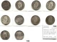 Österreich - Ungarn,Habsburg - Lothringen Franz Josef I. 1848 - 1916Forint 1872, 73, 75, 76, 77, 78, 79, 80 und 1881(2) KB, Kremnitz.  LOT 10 Stück.