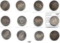 Österreich - Ungarn,Habsburg - Lothringen Franz Josef I. 1848 - 1916Forint 1882, 83, 84, 85, 86, 87, 88, 89, 90(beide Varianten), 91 und 1892 KB, Kremnitz.  LOT 12 Stück.