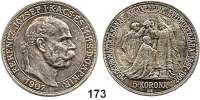 Österreich - Ungarn,Habsburg - Lothringen Franz Josef I. 1848 - 19165 Korona 1907 KB, Kremnitz.  40jähriges Krönungsjubiläum.  Frühwald 2194.  Schön 12.  KM 489.