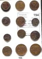Österreich - Ungarn,Habsburg - Lothringen Franz Josef I. 1848 - 19165/10 Soldo 1862 A, B, V; 1 Soldo 1862 A, B, V(2); 1 Centesimo 1852 M, V; 3 Centesimi 1852 M, V; 5 Centesimi 1952 M, V.  Prägung für Lombardei/Venetien.  Frühwald 1877/1894.  LOT 13 Stück.