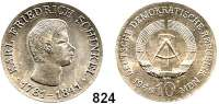 Deutsche Demokratische Republik   PP-Patina !!!!!, 10 Mark 1966.  Schinkel.  Verprägung - großflächiger Schrötlingsriß.