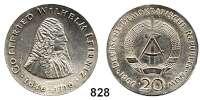 Deutsche Demokratische Republik   PP-Patina !!!!!, 20 Mark 1966.  Leibniz.  Fehlprägung - teilweise außerhalb des Rings geprägt.  33,6 statt 33 mm Ø