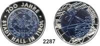 AUSLÄNDISCHE MÜNZEN,E U R O  -  P R Ä G U N G E N Österreich 25 Euro 2003 (Bi-Metall Silber/Niob).  700 Jahre Stadt Hall.  Schön 296.  KM 3101.  Im Originaletui mit Zertifikat.