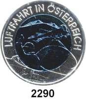 AUSLÄNDISCHE MÜNZEN,E U R O  -  P R Ä G U N G E N Österreich 25 Euro 2007 (Bi-Metall Silber/Niob).  Luftfahrt.  Schön 335.  KM 3147.  Im Originaletui mit Zertifikat.