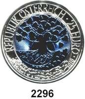 AUSLÄNDISCHE MÜNZEN,E U R O  -  P R Ä G U N G E N Österreich 25 Euro 2010 (Bi-Metall Silber/Niob).  Erneuerbare Energie.  Schön 373.  KM 3189.  Im Originaletui mit Zertifikat.