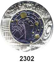 AUSLÄNDISCHE MÜNZEN,E U R O  -  P R Ä G U N G E N Österreich 25 Euro 2015 (Bi-Metall Silber/Niob).  Kosmologie.  Schön 3238.  Im Originaletui mit Zertifikat.