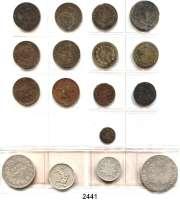 AUSLÄNDISCHE MÜNZEN,Frankreich L O T S     L O T S     L O T S Album mit 124 Münzen.  Darunter Ecu 1790 I; 5 Francs 1840 W.