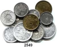 AUSLÄNDISCHE MÜNZEN,Japan  LOT von 11 verschiedenen Kleinmünzen aus den 40er Jahren.