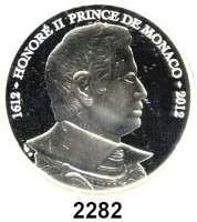 AUSLÄNDISCHE MÜNZEN,E U R O  -  P R Ä G U N G E N Monaco 10 Euro 2012.  Honoré II.  Schön 82.  KM 202.   Im Originaletui mit Zertifikat.