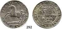 Deutsche Münzen und Medaillen,Braunschweig - Wolfenbüttel Rudolf August und Anton Ulrich 1685 - 1704 24 Mariengroschen 1692 HC-H, Braunschweig.  15,41 g.  Welter 2080.   Dav. 337.