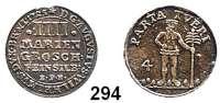 Deutsche Münzen und Medaillen,Braunschweig - Wolfenbüttel August Wilhelm 1714 - 1731 4 Mariengroschen 1725 EPH Feinsilber, Zellerfeld.  2,07 g.  Welter 2402.  Schön 109.