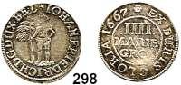 Deutsche Münzen und Medaillen,Braunschweig - Calenberg (Hannover) Johann Friedrich 1665 - 1679 4 Mariengroschen 1667, Zellerfeld.  2,33 g.  Welter 1786.