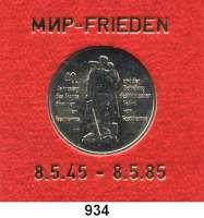 Deutsche Demokratische Republik   PP-Patina !!!!!, 10 Mark 1985.  40.Jahrestag der Befreiung vom Faschismus.  Im Münzrahmen mit goldener Aufschrift