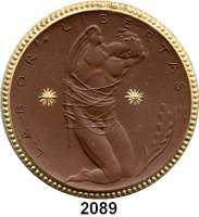 P O R Z E L L A N M Ü N Z E N,Spendenmünzen in Markwertung Berlin300 Mark 1922 braun mit Golddekor.  Wirtschaftshilfe der Deutschen Studentenschaft.