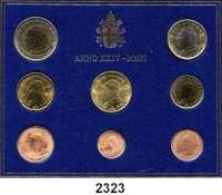 AUSLÄNDISCHE MÜNZEN,E U R O  -  P R Ä G U N G E N Vatikan Kurssatz 2002 (8 Werte).  Cent bis 2 EURO 2002.