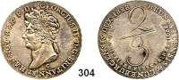 Deutsche Münzen und Medaillen,Braunschweig - Calenberg (Hannover) Georg IV. 1820 - 1830 2/3 Taler 1828 C, Clausthal.  AKS 39.  Jg. 24 (mit BRUNSVICENSIS & sowie BRITANN ET).