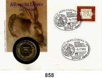 Deutsche Demokratische Republik   PP-Patina !!!!!, 10 Mark 1971.    Dürer.  Im Numisbrief (Poststempel : -9.-7.1993).