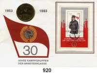 Deutsche Demokratische Republik   PP-Patina !!!!!, 10 Mark 1983.   Kampfgruppen.  Im Numisbrief (Poststempel : 06.09.83).