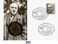 Deutsche Demokratische Republik   PP-Patina !!!!!, 5 Mark 1989.   Ossietzky.  Im Numisbrief (Poststempel : 14.-5.1993).
