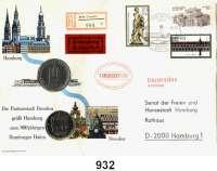 Deutsche Demokratische Republik   PP-Patina !!!!!, 5 Mark 1985.   Wallpavillon des Dresdener Zwingers.  Beigegeben 10 Mark 1989 Bundesrepublik Deutschland
