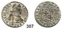 Deutsche Münzen und Medaillen,Breslau, Bistum Friedrich von Hessen 1671 - 1682 6 Kreuzer 1679, Neisse.  2,82 g.  F.u.S. 2700.  KM 155.