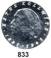 Deutsche Demokratische Republik   PP-Patina !!!!!, 10 Mark 1967.  Kollwitz.  Aluminiumabschlag der Vorderseite.