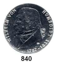 Deutsche Demokratische Republik   PP-Patina !!!!!, 20 Mark 1967.  Humboldt.  Aluminiumabschlag der Vorderseite.