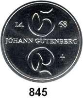 Deutsche Demokratische Republik   PP-Patina !!!!!, 10 Mark 1968.  Gutenberg.  Aluminiumabschlag der Vorderseite.