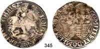 Deutsche Münzen und Medaillen,Mansfeld - Vorderort - Eisleben Johann Georg I., Peter Ernst I. und Christoph II. 1558 - 1579 Taler o.J., Eisleben. 27,94 g.  Tornau 334 n.  Dav. 9482.