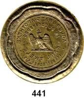 Deutsche Münzen und Medaillen,Petschaften  Trockensiegelabdruck, Messing, 41 mm.