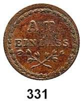 Deutsche Münzen und Medaillen,Frankfurt am Main  Einlassmarke o.J., Kupfer, einseitig.  Allerheiligen Tor.  24,6 mm.  2,19 g.  J.u.F. 1707.