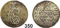 Deutsche Münzen und Medaillen,Ostfriesland Karl Edzard 1734 - 1744 1/12 Taler 1738 HLF.  3,25 g.  Knyphausen 6632.