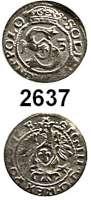AUSLÄNDISCHE MÜNZEN,Polen Sigismund III. 1587 - 1632 Schilling 1613 Adler.  0,50 g.  Gum. 886.
