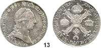 Römisch Deutsches Reich,Haus Habsburg Josef II. 1765 - 1790 1/2 Kronentaler 1789 A, Wien.  14,71 g.  Herinek 195.