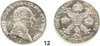 Römisch Deutsches Reich,Haus Habsburg Josef II. 1765 - 1790 1/2 Kronentaler 1789 A, Wien.  14,78 g.  Herinek 195.