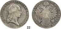 Österreich - Ungarn,Habsburg - Lothringen Franz I. (1792) 1806 - 1835Konventionstaler 1822 G, Nagybanya.  Kahnt 338.  Jl. 190.  Dav. 7.